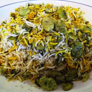 Persian Rice with Fava Beans and Dill