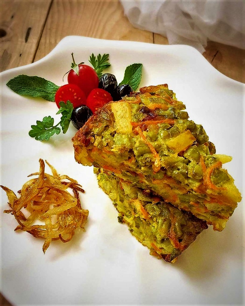 Kookoo Lubia Sabz - Green Bean Frittata