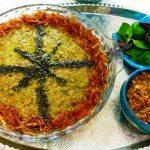 Mash o Ghomri (Kohlrabi and Mung Beans Pottage)