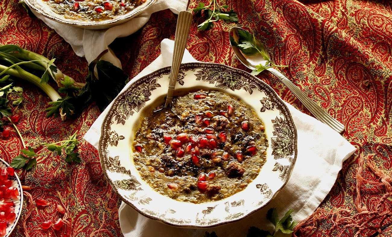 Ash-e Anar - Pomegranate Soup