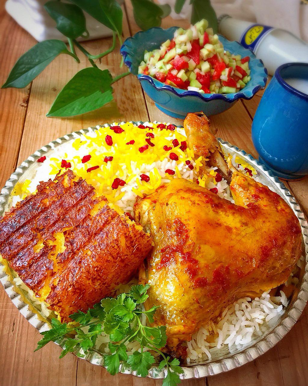 Zereshk Polo ba Morgh - Barberry Rice with Chicken