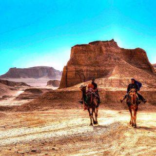 Camel Riding in Lut Desert