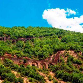 Bridge railway in iran