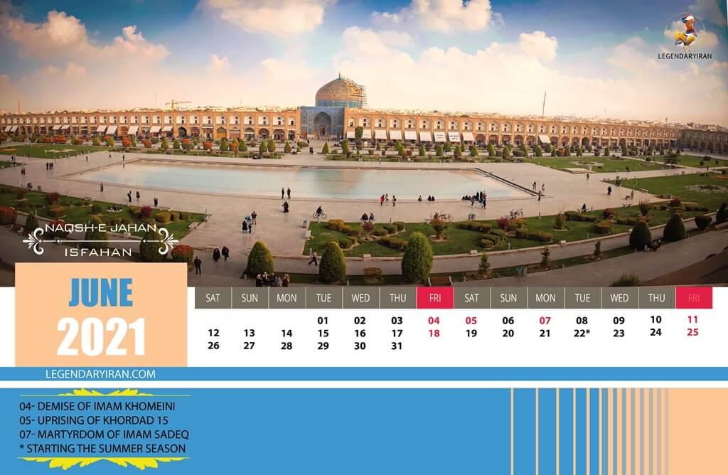 Jun 2021 Iranian Calendar