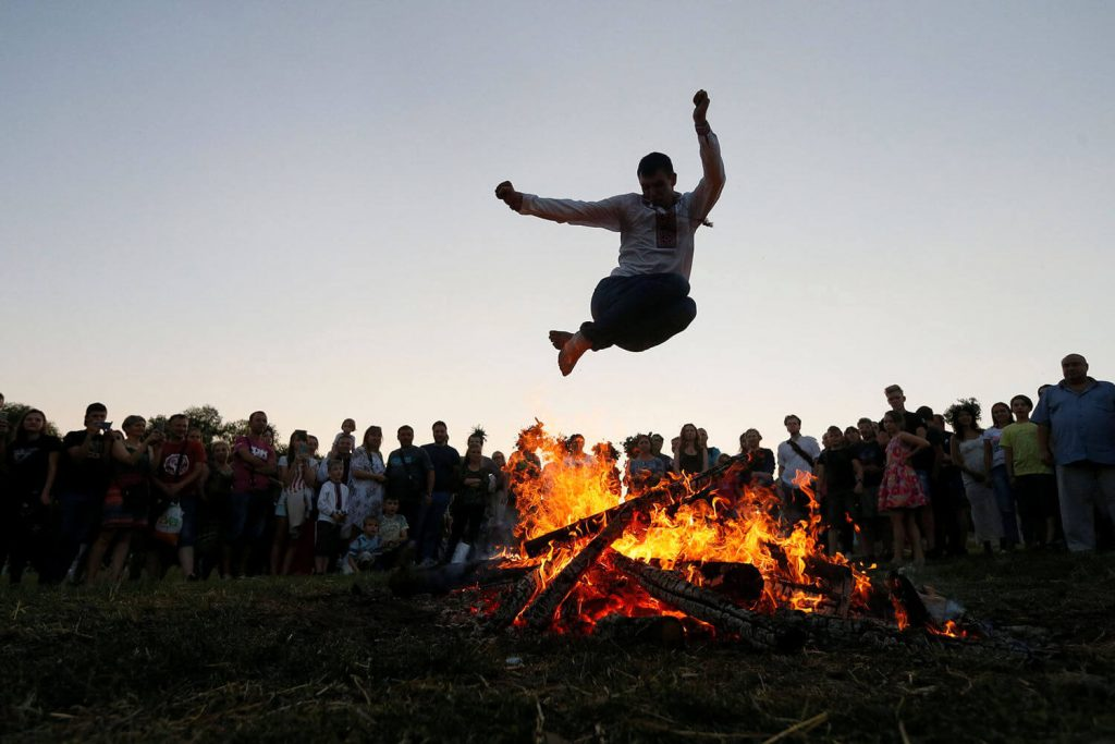 Iranian Fire Jumping Festival