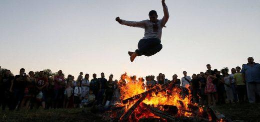 Iranian Fire Jumping Festival