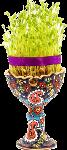 Sabzeh in Nowruz Table