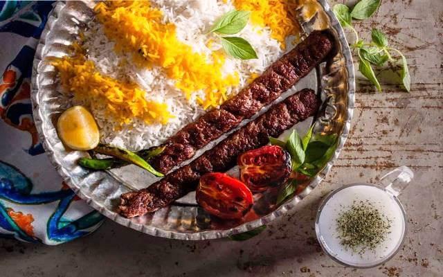 Persian Kebab with rice