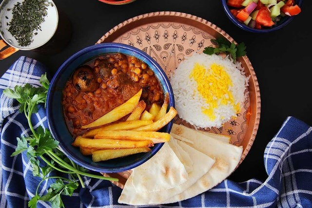 Gheymeh with Rice