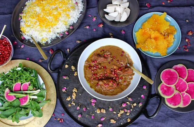 Fesenjan with Rice